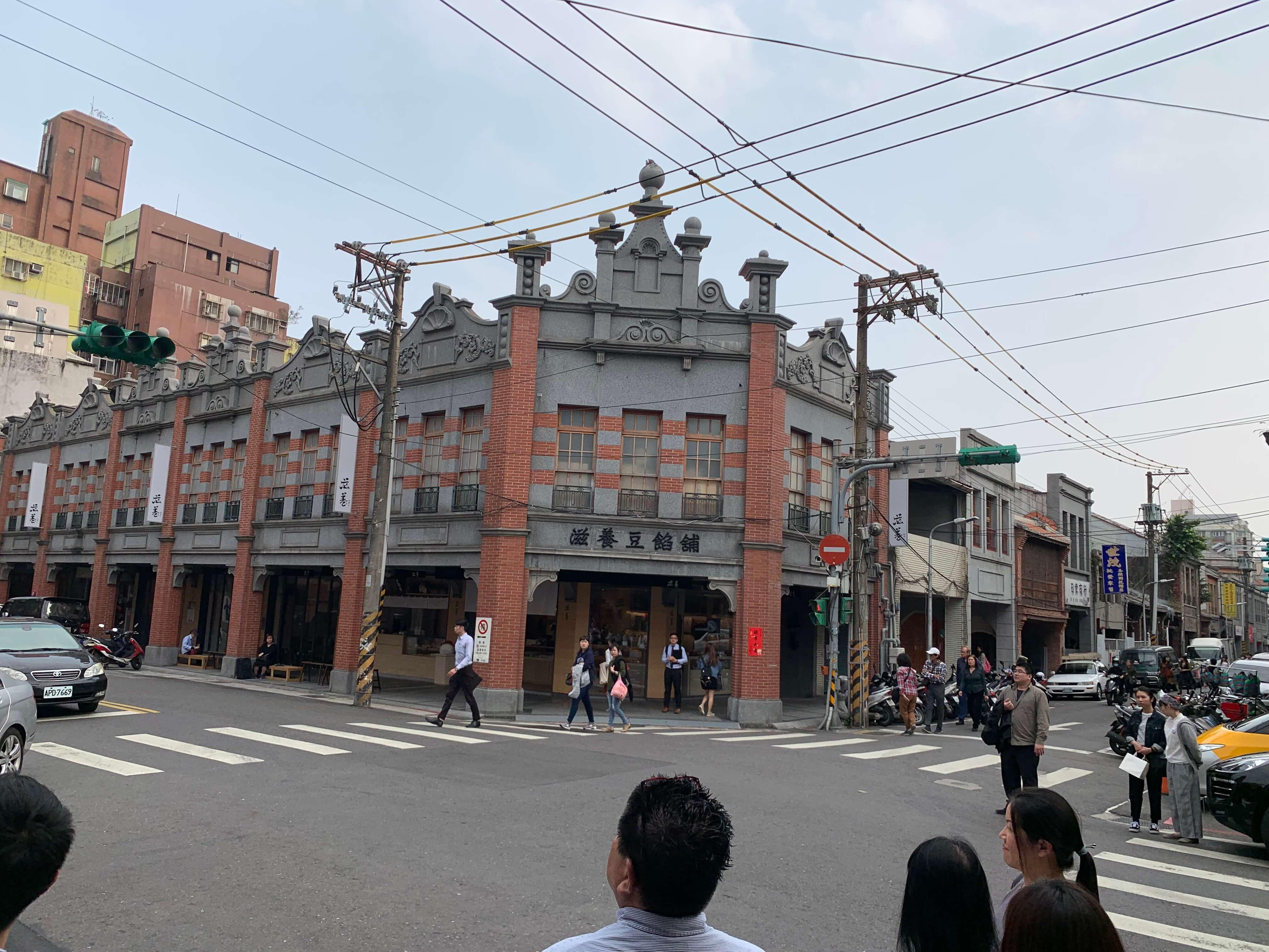 視察の様子 大稲埕 1 ← 通行人の顔をぼかす。